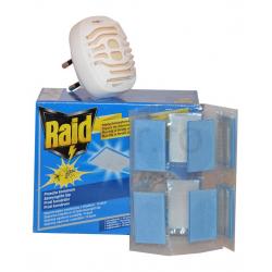 Raid Lapkás Elektromos Szúnyogriasztó Készülék + 10db Lapka