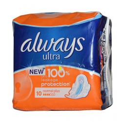 Always Ultra Normal Plus Egészségügyi betét, 10 darab