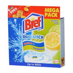Bref Duo Stick 6db wc tisztító csík lime-menta 54g