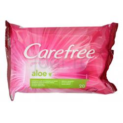 Carefree aloe intim törlőkendő 20db