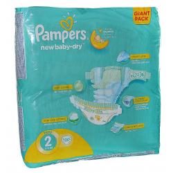 Pampers New Baby-Dry tépőzáras pelenka 2-es méret (Mini), 3-6 kg, 108 db