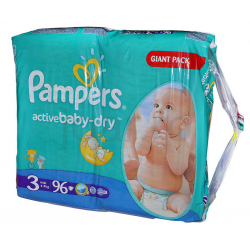 Pampers Active Baby 3 Midi 4-9kg 96db