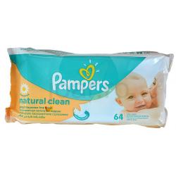 Pampers törlőkendő naturally clean 64db